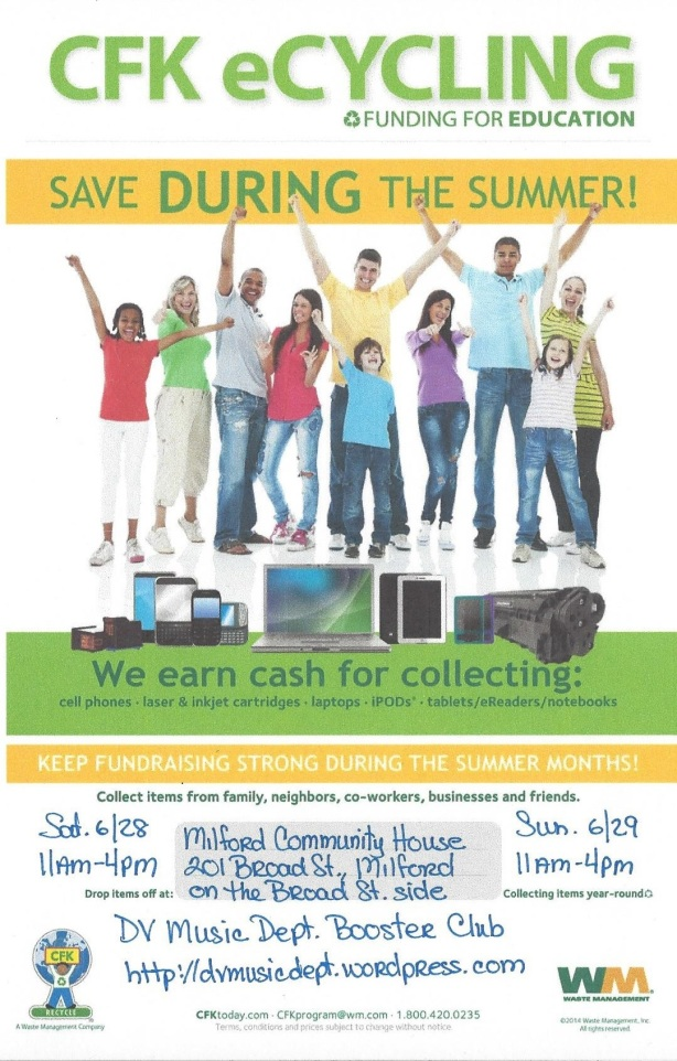 Community Recycling Event at Milford Music Festival