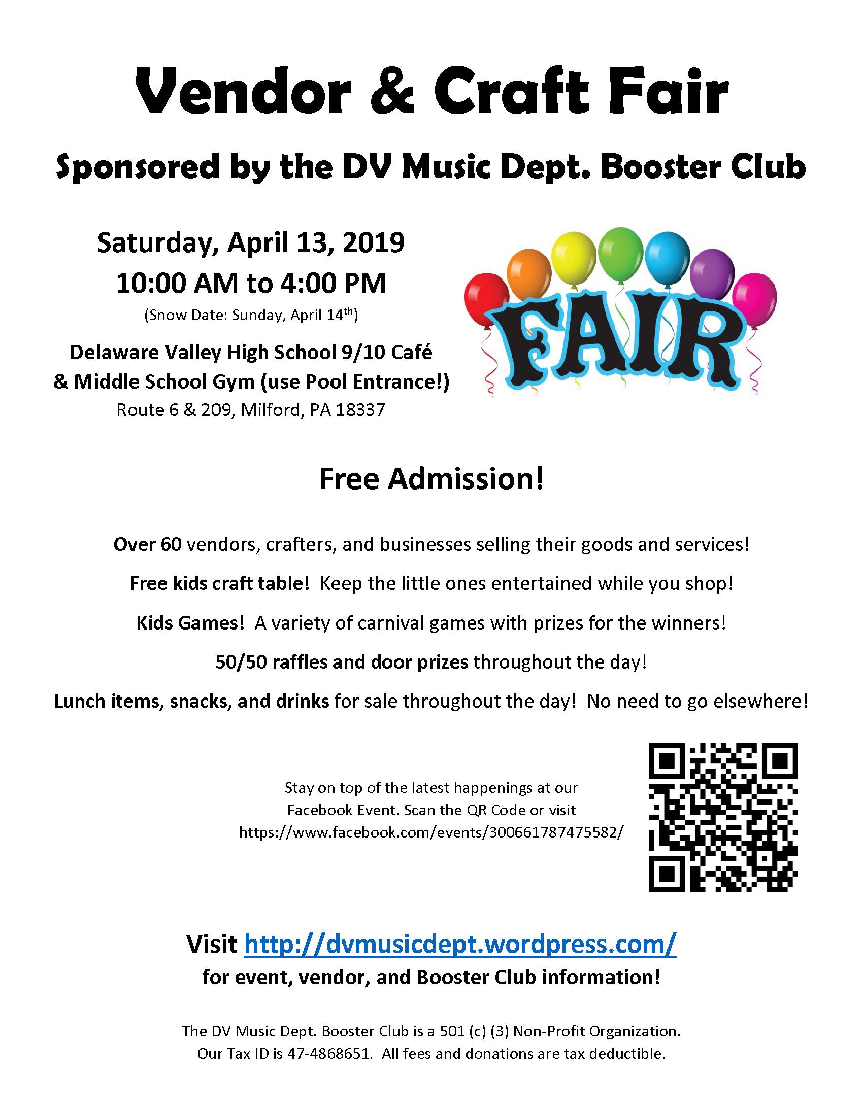 Vendor & Craft Fair | DV Music Dept Booster Club